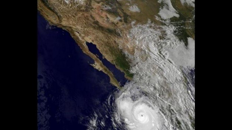 El huracán Odile, fotografiado desde el espacio. Imagen: NASA