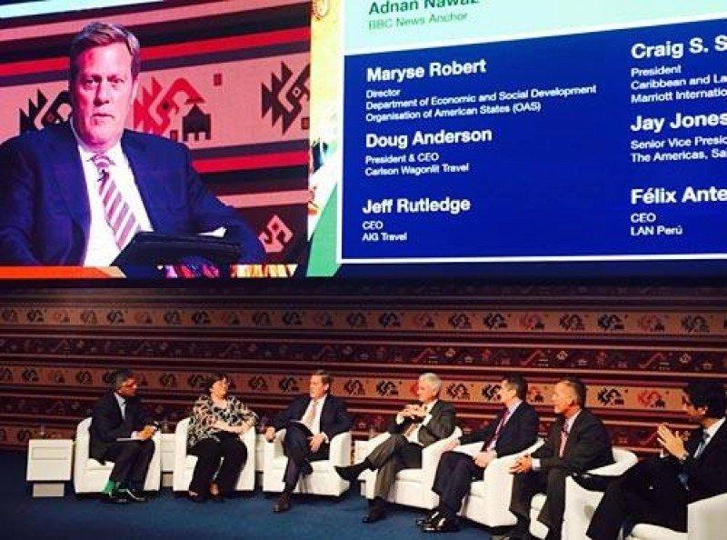 Craig Smith, de Marriott, en el congreso de WTTC de Lima.