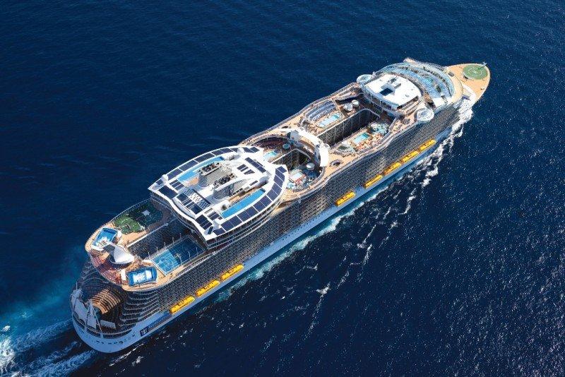 El crucero Allure of the Seas, de la naviera Royal Caribbean International.