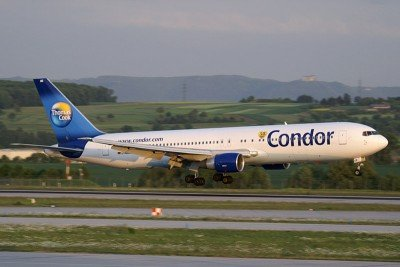 Condor opera a 75 destinos.