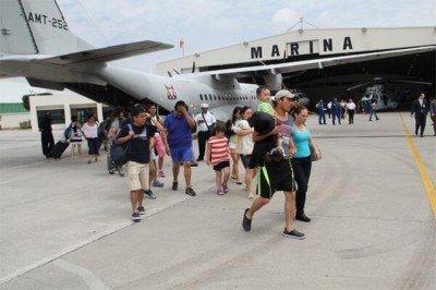 En la operación colaboran las secretarías de Gobernación, Defensa Nacional, Marina y Turismo.