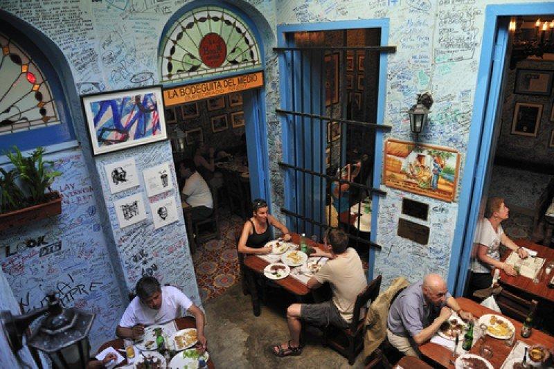 Un popular restaurante en La Habana. #shu#