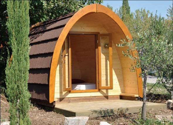Los alojamientos pueden ser muy variados desde cabañas a tipis o lodges.