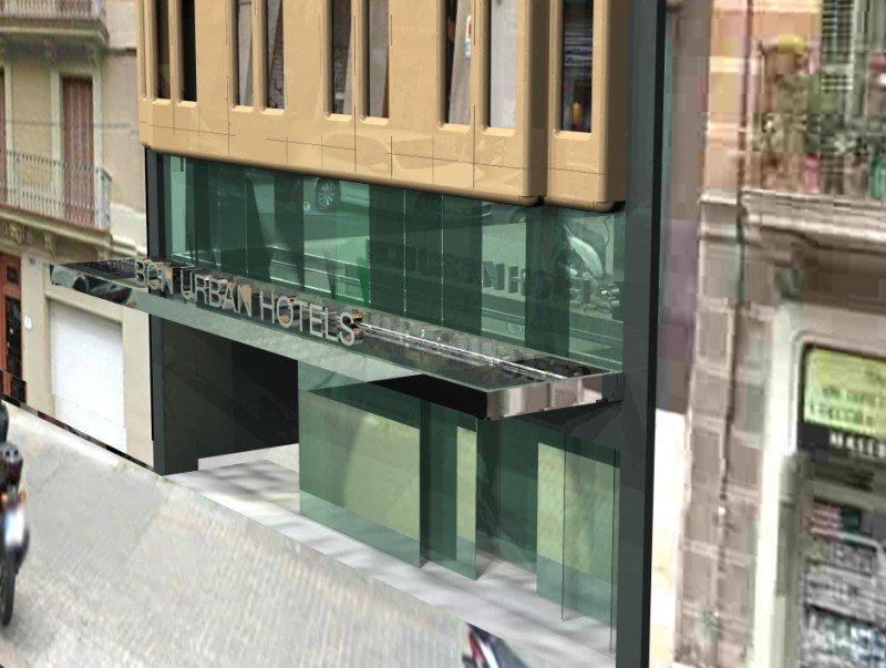 Infografía del futuro BCN Urban Hotel en la calle Rosellón de la Ciudad Condal.