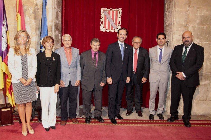 Fotografía de los galardonados de Menorca.