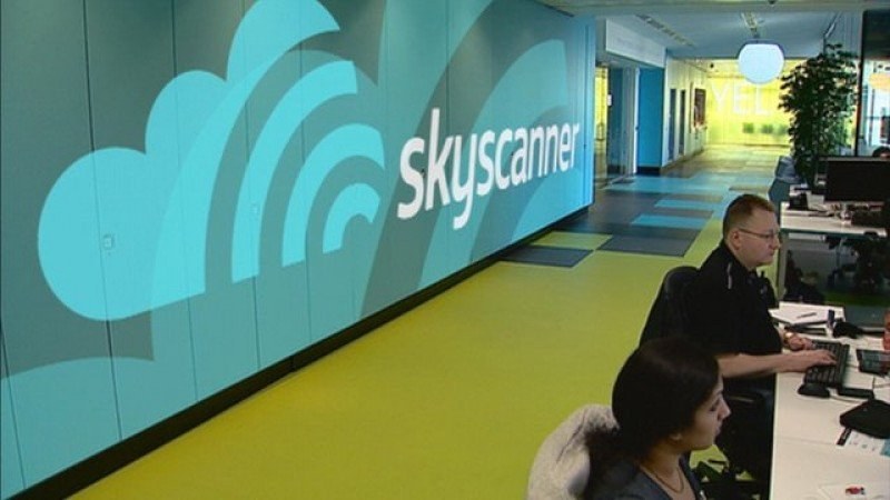 Oficinas centrales de Skyscanner en Reino Unido. Foto BBC.