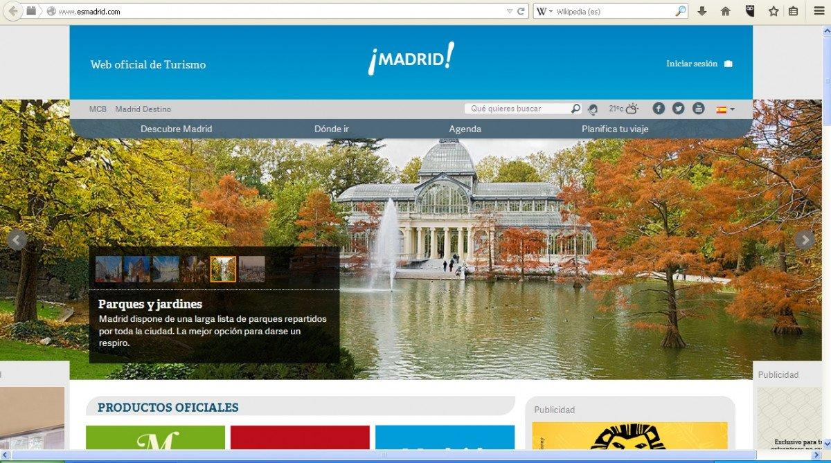 El portal turístico de Madrid está disponible en nueve idiomas.