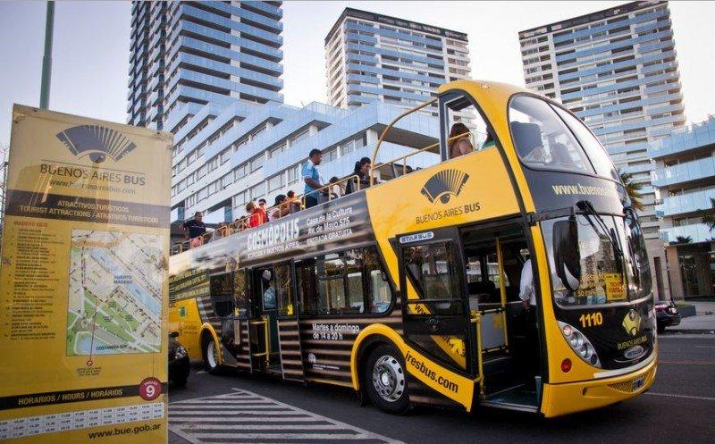Aumentan 7,6% los pasajeros transportados por el Bus Turístico de Buenos Aires