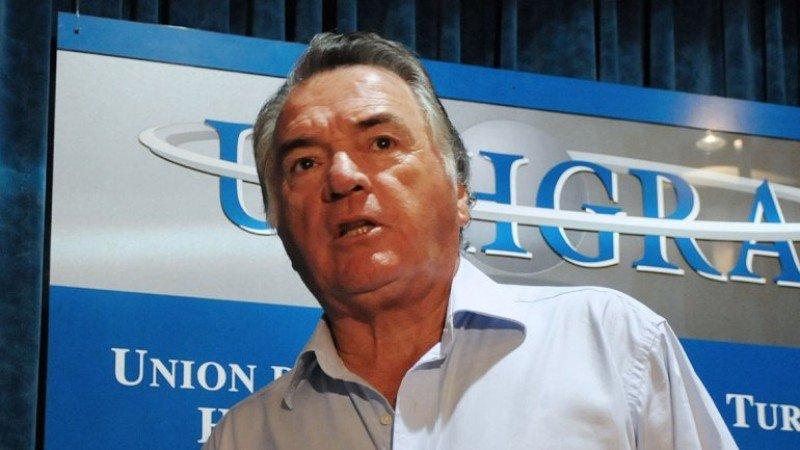 Luis Barrionuevo, titular de la Unión de Trabajadores del Turismo, Hoteleros y Gastronómicos (Uthgra).