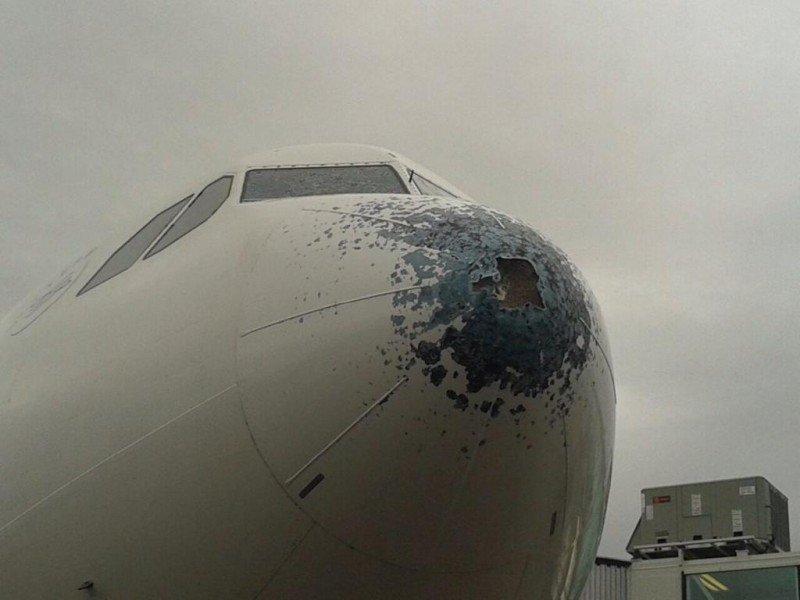 Avión de Air Europa fue dañado por granizo cuando volaba a Buenos Aires