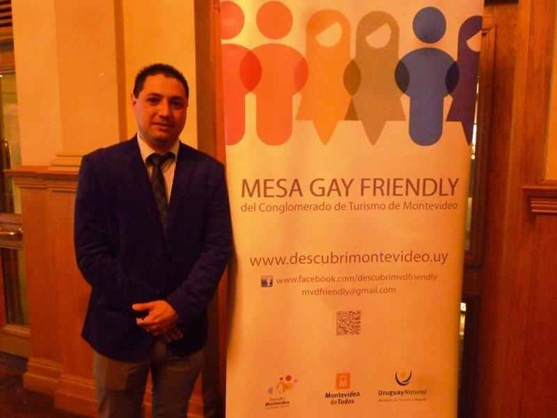 Adrián Russo, representante de la Mesa Friendly en el Conglomerado de Turismo de Montevideo.