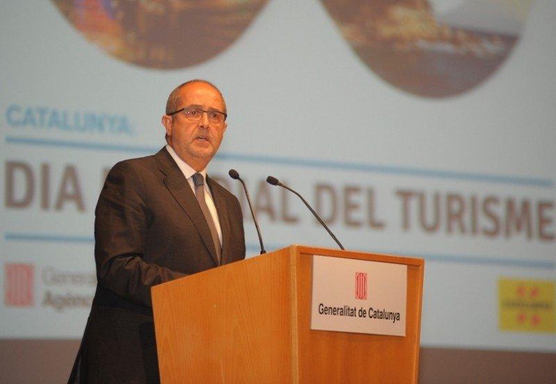Felip Puig, durante su intervención con motivo del Día Mundial del Turismo.