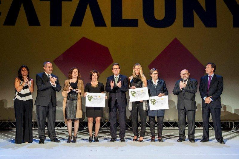 Momento de la entrega de los premios, el pasado 1 de octubre en Barcelona.
