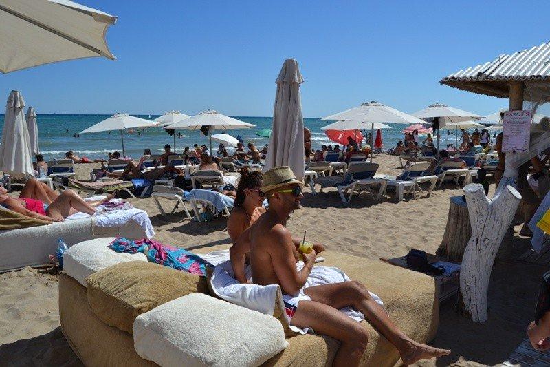 Una de las playas de Sitges, Barcelona.