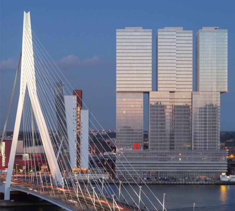 NH Hotel Group ha abierto en Rotterdam su tercer hotel nhow, ubicado en el vanguardista edificio del arquitecto holandés Koolhaas.