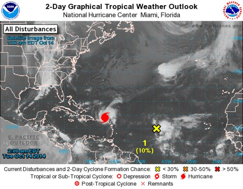 Imagen: National Hurricane Center, USA. CLICK PARA AMPLIAR IMAGEN.