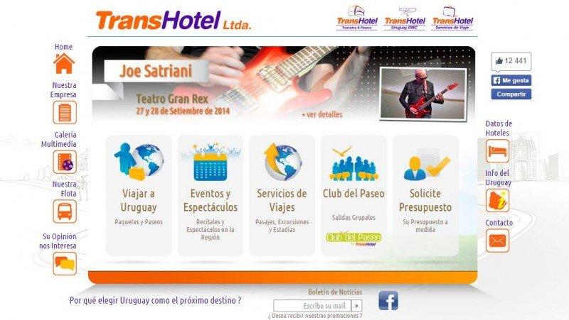 Web de la uruguaya Transhotel Ltda.