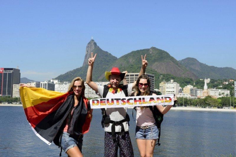 Seguidores de Alemania en el Mundial de Futbol de Brasil. #shu#