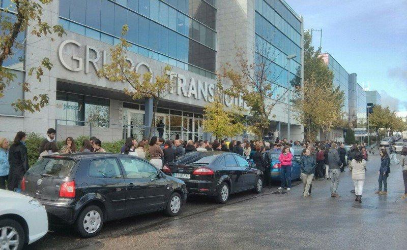 El pasado martes los trabajadores de Transhotel salieron a la calle como protesta por su situación.