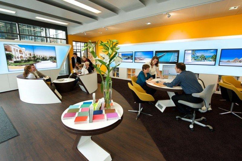 El grupo alemán ha apostado por nuevas tiendas con profusión de tecnología.