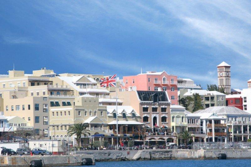 La ciudad de Hamilton, en las Bermudas. #shu#