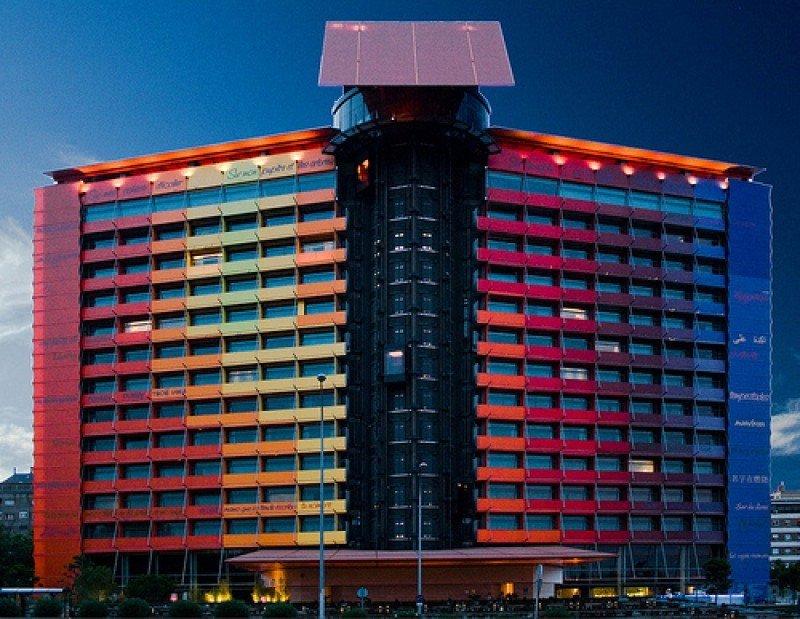 El hotel Silken Puerta América, el establecimiento más emblemático de la cadena.