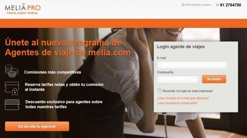 Meliá lanza su nuevo portal para agentes de viajes