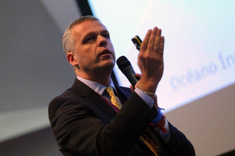 Andy Stalman durante su intervención en el Congreso Hotelero.