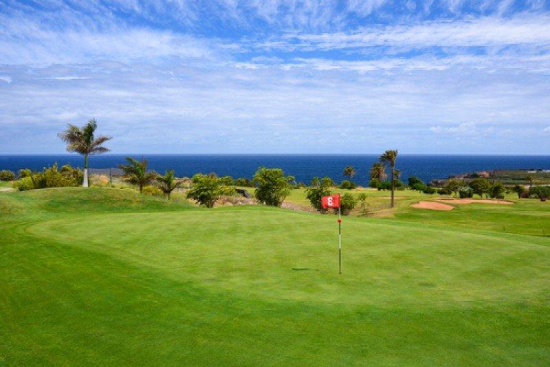 Un campo de golf en Tenerife. #shu#