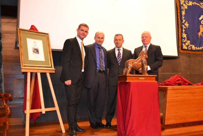 Simon Pickup (director medioambiente ABTA), Mark Tanzer, Paulino Rivero y Wolfgang Kiessling.