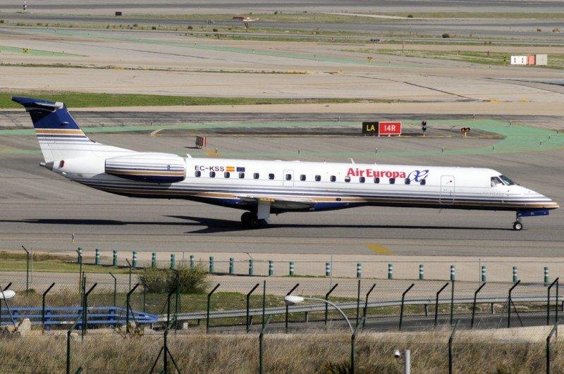 Embraer 145 de Air Europa cubrirá ruta Madrid-Oporto.
