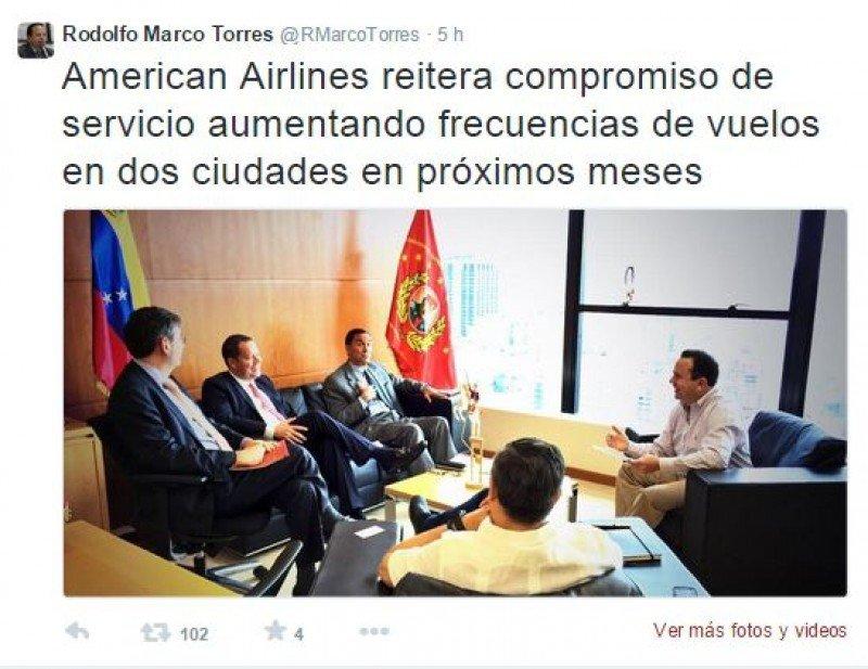 American Airlines aumentará frecuencia de sus vuelos en Venezuela