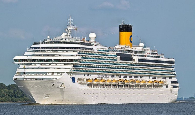 El Costa Pacífica tiene capacidad para 3.700 pasajeros.