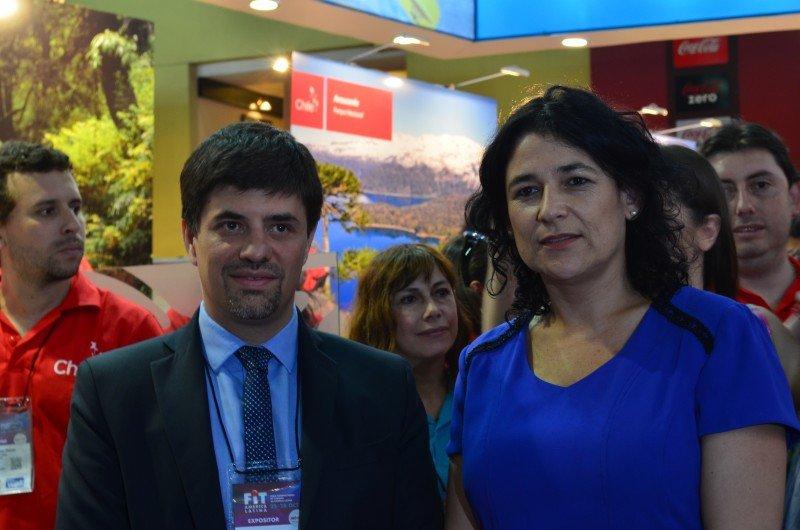 Marcelo Díaz, Embajador de Chile en Argentina y Javiera Montes, Subsecretaria de Turismo.