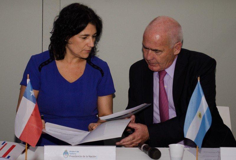 Javiera Montes y Enrique Meyer.