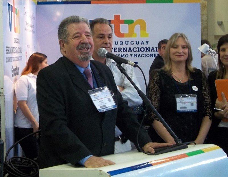 Giorgio Valenti, presidente de Audavi, en la inauguración de la feria VTN-Encotur.