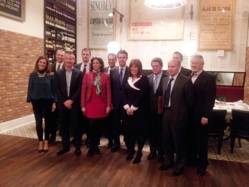 En Londres, el ministro José Manuel Soria mantuvo un encuentro con representantes de turoperadores y aerolíneas. Foto: Turespaña.