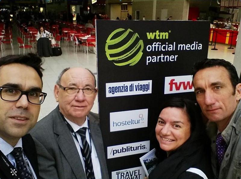 Nuestro equipo enla WTM 2014: Xavier Canalis, Joaquín Molina, Vivi Hinojosa y Manuel Molina.