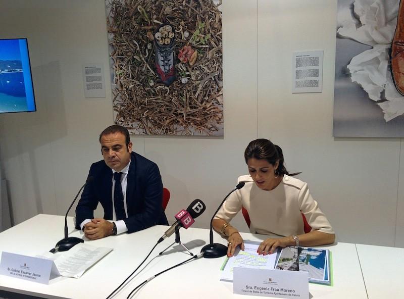Gabriel Escarrer Jaume, consejero delegado de Meliá Hotels International, y teniente de alcalde de Calvià, Eugenia Frau Moreno.