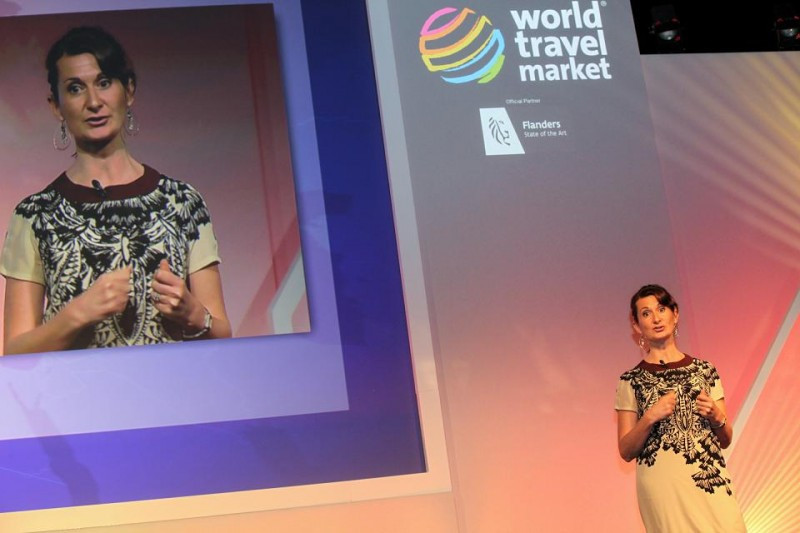 Aoife Desmond durante su intervención en la World Travel Market.