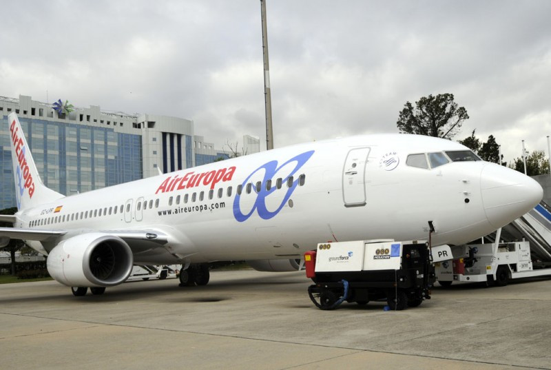 El Boeing B787 de Air Europa en una visita previa a Madrid Barajas.