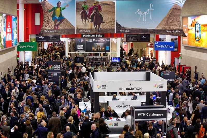 Imagen general de la feria World Travel Market que se ha celebrado esta semana en Londres.