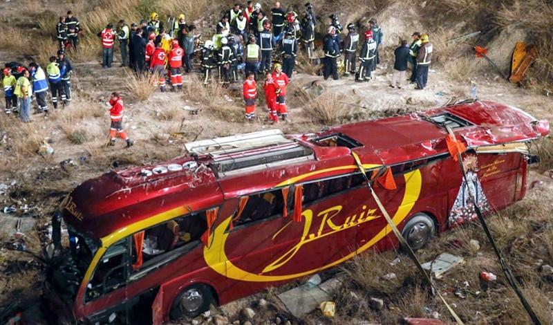 Imputan al conductor del autobús siniestrado en Murcia por homicidio imprudente