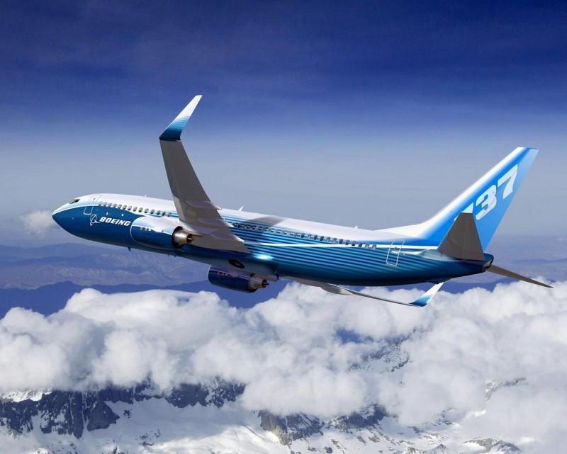 La demanda del B737 impulsó la cartera de pedidos de Boieng (en la imagen un B737-8 con winglets).