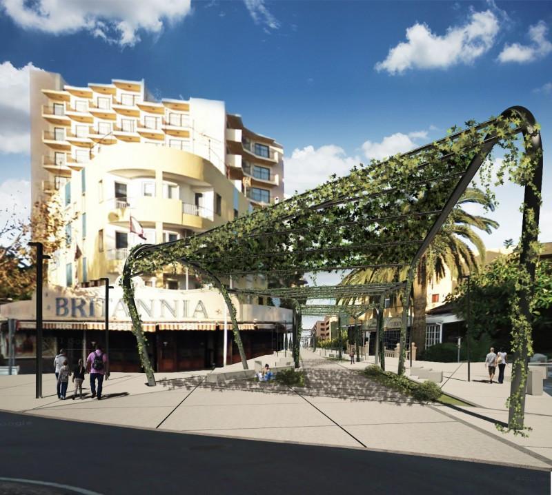 Imagen virtual de la nueva avenida de Magaluf.