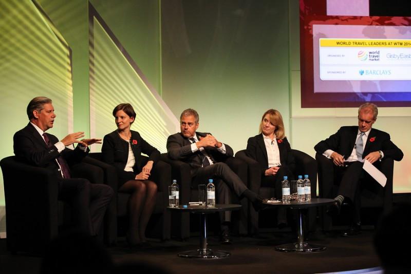 Un momento del debate con empresas turísticas líderes organizado en World Travel Market la semana pasada en Londres.