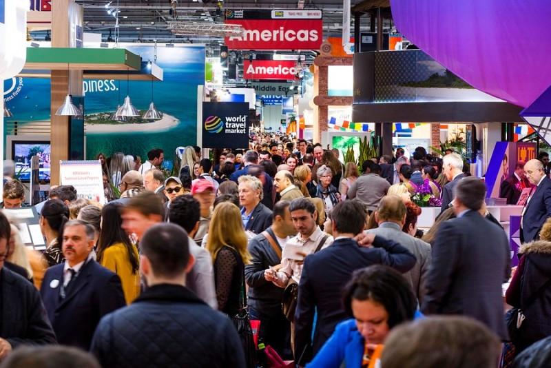 Imagen de uno de los pasillos de la feria turística World Travel Market.
