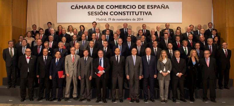 Sesión constitutiva de la Cámara de España.