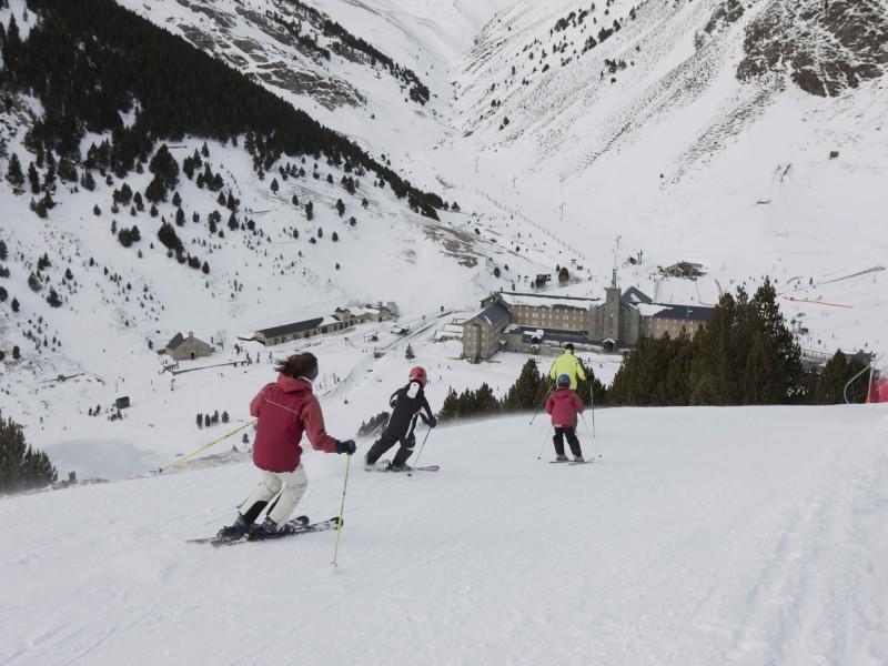 Estación de esquí de Vall de Núria.