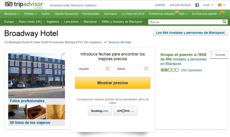 Un hotel sanciona a dos clientes por una mala crítica en TripAdvisor